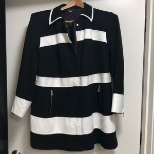 Black and white fall coat